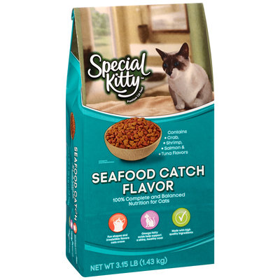 Special Kitty™ Seafood Catch Flavor Dry Cat Food 3.15 lb. Bag