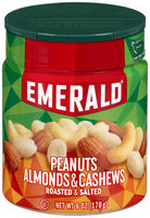 Emerald® Peanuts, Almonds & Cashews 6 oz. Mini Canister