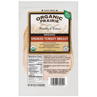 Organic Prairie Organic Slices Smoked Turkey Breast 6 Oz Peg