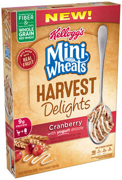Kellogg's Mini Wheats Harvest Delights Cranberry with Yogurt Drizzle Cereal