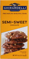 Ghirardelli® Chocolate Semi-Sweet Chocolate Premium Baking Bar 4 oz. Wrapper