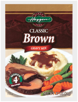 Haggen Classic Brown Gravy Mix .87 Oz Packet