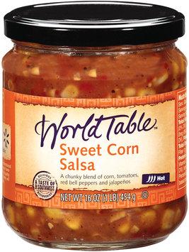 World Table Sweet Corn Hot Salsa 16 Oz Jar