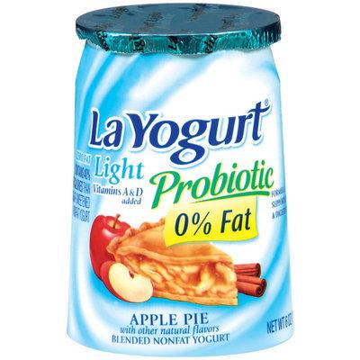 La Yogurt Apple Pie Blended Nonfat Yogurt Light Probiotic 6 Oz Cup