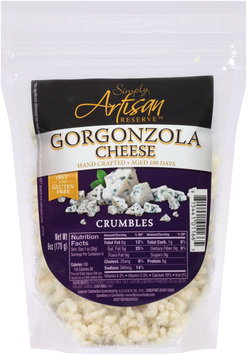 Simply Artisan Reserve™ Gorgonzola Cheese Crumbles 6 oz. Bag