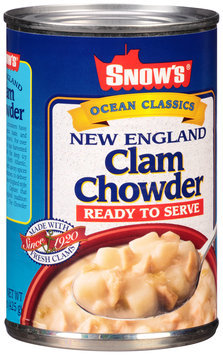 Snow's® Ocean Classics Ready to Serve New England Clam Chowder