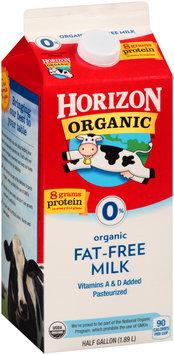 Horizon Organic® 0% Fat-Free Milk 0.5 gal Carton