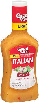 Great Value Light Italian Dressing, 16 fl oz