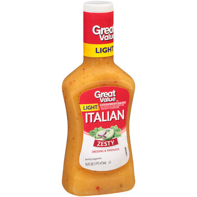 Great Value Light Italian Dressing, 16 fl oz