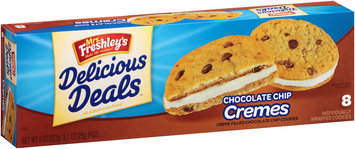 Mrs. Freshley's® Delicious Deals™ Chocolate Chip Cremes Cookies 8-1 oz. Wrappers