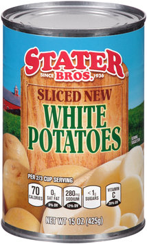 Stater Bros.® Sliced New White Potatoes 15 oz. Can