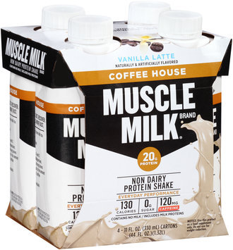 Muscle Milk® Coffee House Vanilla Latte Non Dairy Protein Shake 4-11 fl. oz. Aseptic Packs