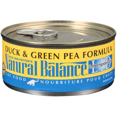 Natural Balance® L.I.D. Duck & Green Pea Formula Cat Food 5.5 oz. Can