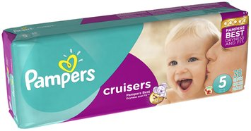 Pampers Cruisers Mega Pack Size 5 Diapers 38 ct Bag