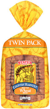 Stater Bros.® Country Harvest Split Top Wheat Bread 48 oz. Bag