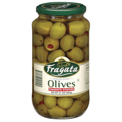 Fragata Spanish Queen Pimiento Stuffed Olives 21 Oz Jar