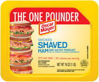 Oscar Mayer Smoked Shaved Ham Cold Cuts 16 oz. Tray