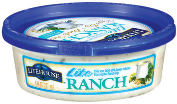 Litehouse Lite Ranch Veggie Dip 8 Fl Oz Tub