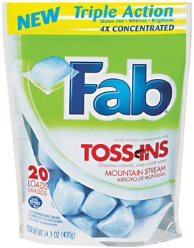 Fab® Toss-Ins Triple Action Mountain Stream Laundry Detergent 14.1 oz Stand Up Bag