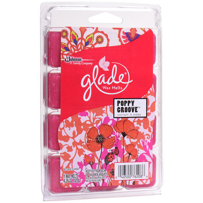 Glade® Poppy Groove™ Wax Melts Refill 11 ct Clamshell