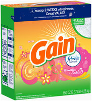 Gain Powder Laundry Detergent, Hawaiian Aloha, 95 Loads 150 Oz