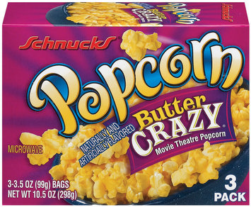Schnucks Butter Crazy 3 Ct Popcorn 10.5 Oz Box