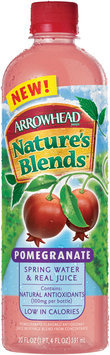 Arrowhead Nature's Blends Spring Water & Real Juice Pomegranate 20 fl. oz. Plastic Bottle