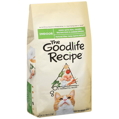 Archived The Goodlife Recipe Indoor W/Real Archived Chicken Brown Rice & Garden Greens Dry Cat Food 2.7 Lb Bag