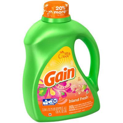 Gain Liquid Laundry Detergent, Island Fresh, 77 Loads 120 Fl Oz