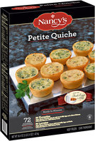 Nancy's® Florentine & Lorraine Petite Quiche 72 ct Box