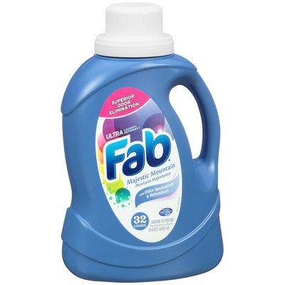 Fab® Ultra Majestic Mountain Laundry Detergent 50 oz. Plastic Jug