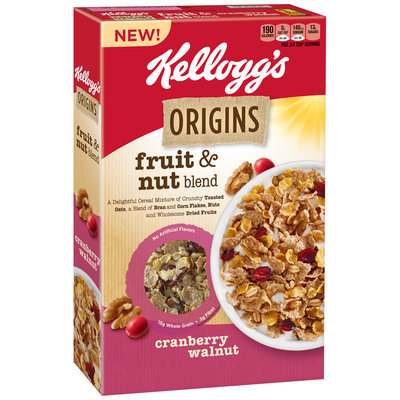 Kellogg's Origins™ Fruit & Nut Blend Cranberry Walnut Cereal 12.9 oz. Box
