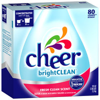Cheer Fresh Clean Scent Powder Laundry Detergent 113 oz. Box