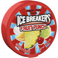 ICE BREAKERS SUGAR FREE MINTS FRUIT PUNCH