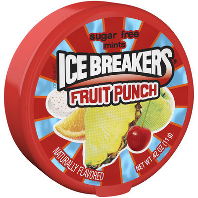 Ice Breakers® Fruit Punch Sugar Free Mints 0.42 oz. Container