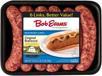 Bob Evans® Original Bratwurst Links 6 ct 19 oz Tray