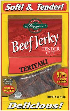 Haggen Tender Cut Teriyaki Beef Jerky 4 Oz Peg
