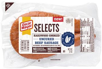 Oscar Mayer Selects Hardwood Smoked Uncured Beef Sausage 12 oz. Pack