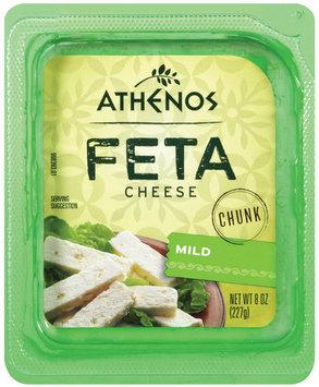 Athenos Chunk Mild Feta Cheese 8 oz.