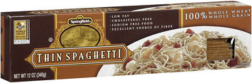 Springfield® Thin Spaghetti 100% Whole Wheat/Whole Grain 12 oz. Box