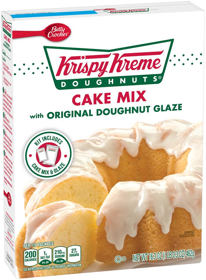 Betty Crocker® Krispy Kreme Doughnuts® Cake Mix with Original Doughnut Glaze 16.3 oz. Box