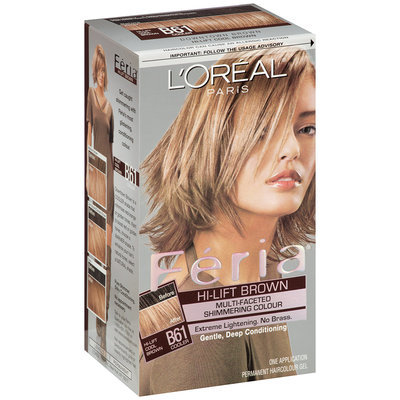 Feria Multi-Faceted Shimmering Colour Hi-Lift Cool Brown B61 Hair Color 1 Kt Box