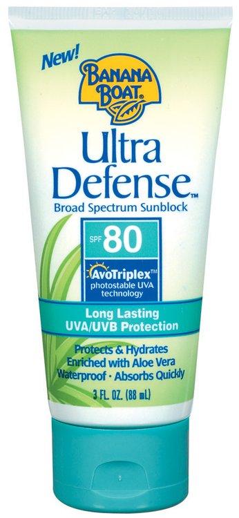 Banana Boat Ultra Defense Broad Spectrum SPF 80 Sunblock 3 Fl Oz Tube