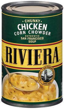 Riviera Chunky Chicken Corn Chowder Soup 15 Oz Can