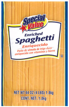 Special Value Enriched Spaghetti 64 Oz Bag