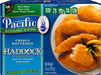 Pacific Sustainable Seafood™ Crispy Battered Haddock 10 oz. Box