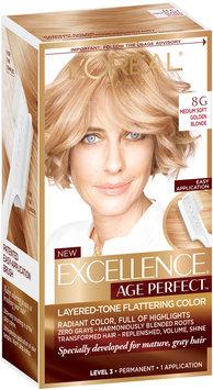 L'Oréal® Paris Excellence® Age Perfect™ Layered-Tone Flattering Color 8G Medium Soft Golden Blonde 1 Kit