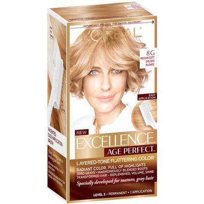 L'Oréal® Paris Excellence® Age Perfect™ Layered-Tone Flattering Color 8G Medium Soft Golden Blonde 1 Kit