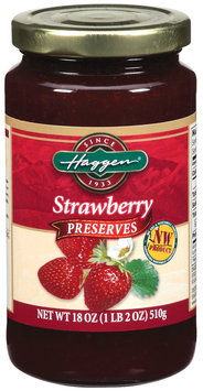 Haggen Strawberry Preserves 18 Oz Jar