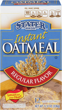 Stater bros® Regular Flavor Instant Oatmeal 1
